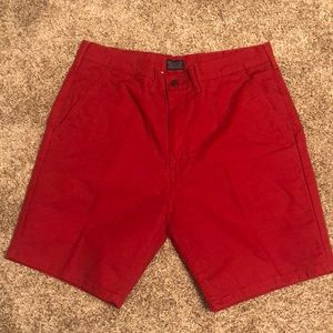 Red Levi shorts